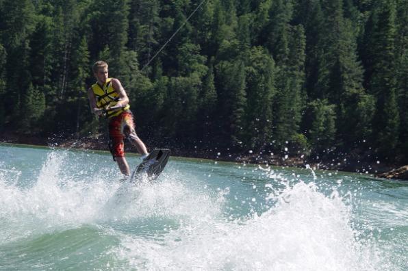 Wakeboarding at Shasta Lake