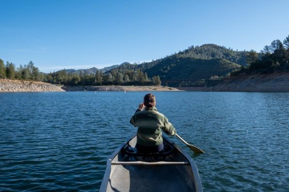 Canoeing at Shasta Lake