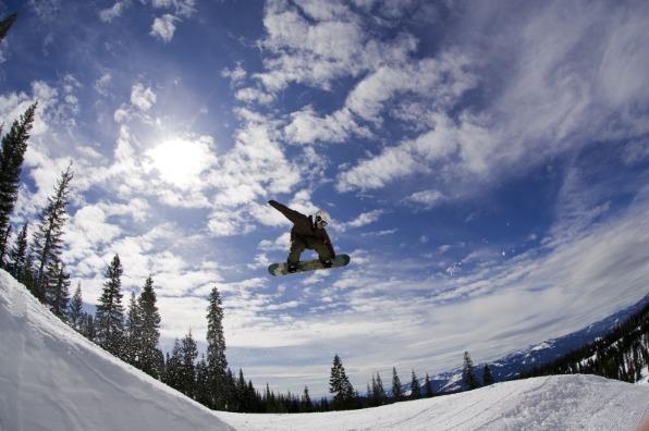 Snowboarding on Mt. Shasta