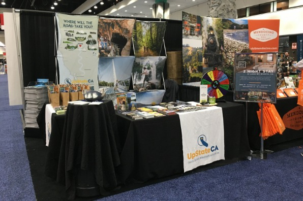 UpState CA Booth at LA Travel and Adventure Show