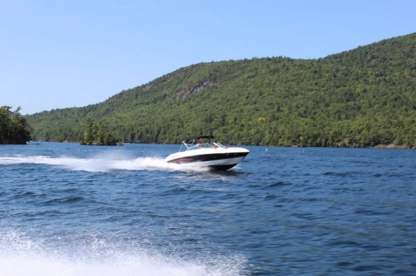 Speedboat on Lake Almanor